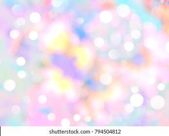 Unicorn Marble Galaxy Print Seamless pattern in repeat.Pastel clouds and sky with bokeh . Cute bright candy background . Concept for montage yours product or presentation for girl .Princess style.