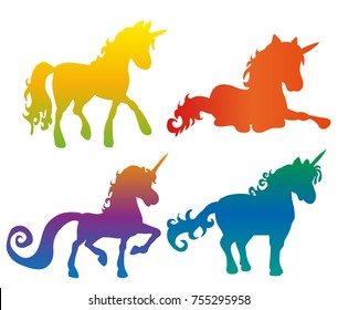 unicorn silhouette isolated
