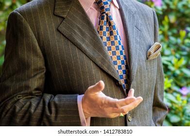 Unidentified male torso wearing a suit