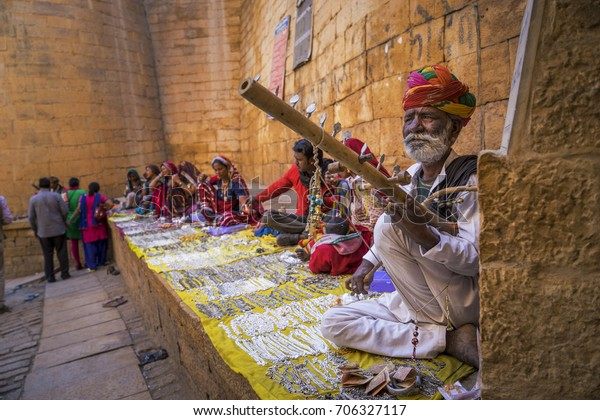 Unidentified Persons Inside Fort Jaisalmer Selling Stock Photo (Edit