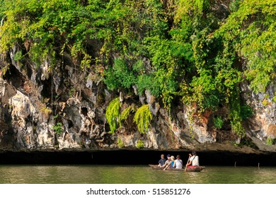 Unidentified touriss on a Boat trip under Sadan Cave complex, Hpa-An , Myanmar