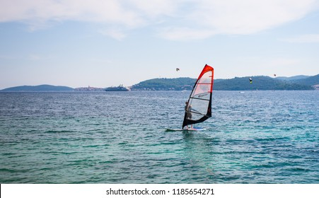 Unidentified windsurfer at Viganj, Croatia, circa September 2013