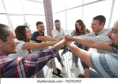 unified business team.the concept of teamwork
