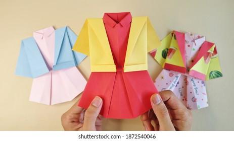Uniform Girl Origami Paper Cute