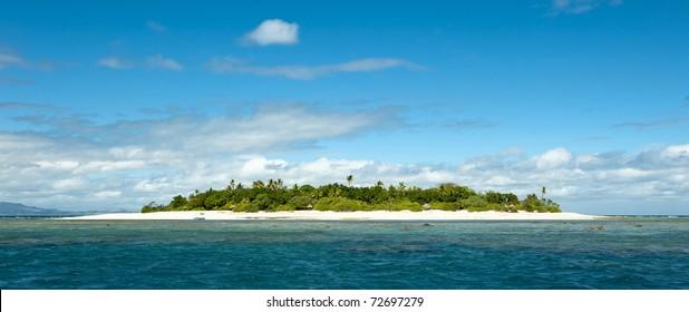 uninhabited remote island of Mala Mala part of Fiji Islands