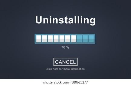 Uninstalling Loading Progress Load Business Concept