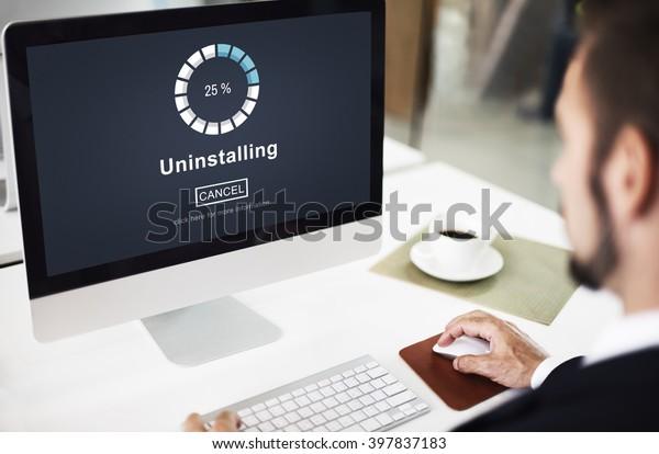 Uninstalling Percentage Loading Unloading Working Concept