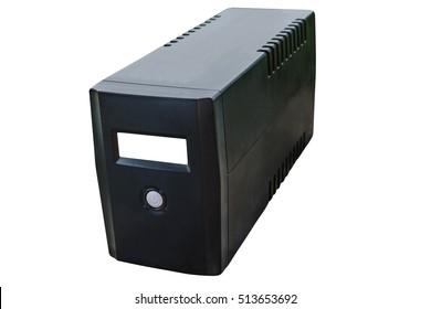 Uninterruptable Power Supply (UPS) isolated on a white background.