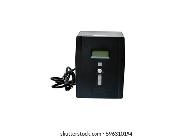 Uninterruptible Power Supply (UPS) on a white background. clipping path in picture.