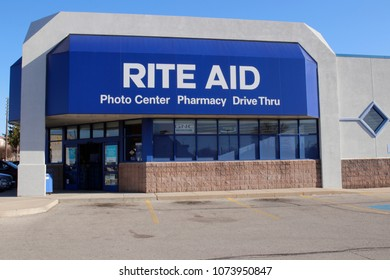 Union City - Circa April 2018: Rite Aid Drug Store and Pharmacy. In 2018, Rite Aid transferred 625 stores to WBA, the owner of Walgreens III