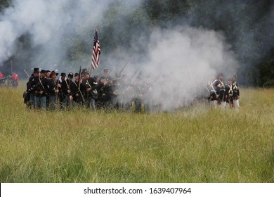 Union Gap, WA / USA - June 16, 2013:  The largest Civil War Reenactment in Washington State takes place in a field in the Yakima Valley on a summer day.