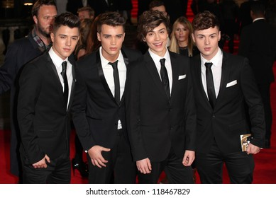 Union J from X Factor arriving for the Royal World Premiere of 'Skyfall' at Royal Albert Hall, London. 23/10/2012 Picture by: Alexandra Glen