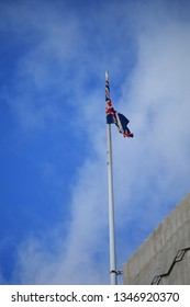 Union Jack Flag blowing in the wind