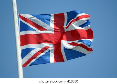 Union Jack flag of United Kingdom