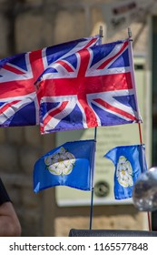 Union Jack flags and Yorkshire flags