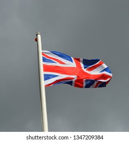 The Union Jack flying in the wind