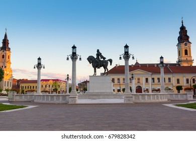 Union Square by evening in Oradea