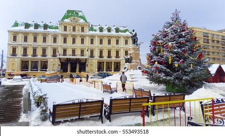 Union Square in the old Iasi city, Romania