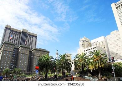 Union Square in San Francisco, California, USA