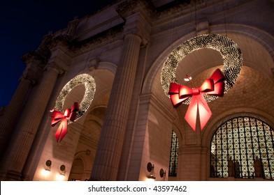 Union Station Christmas Wreath in Washington DC