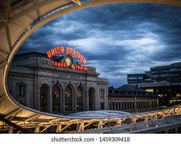 Union Station Denver Evening cloudy
