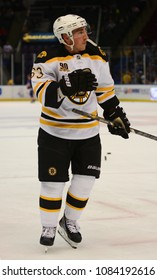 UNIONDALE, NEW YORK, UNITED STATES – Nov. 2, 2013: NHL Hockey: Brad Marchand, of the Boston Bruins, during warm-ups. Bruins vs. New York Islanders at Nassau Veterans Memorial Coliseum.