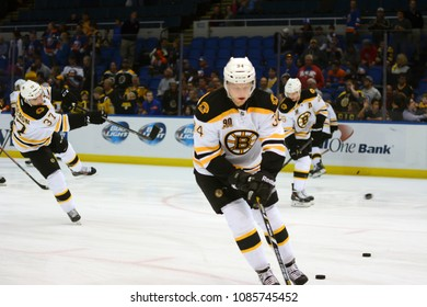 UNIONDALE, NEW YORK, UNITED STATES – Nov. 2, 2013: NHL Hockey: Carl Soderberg, of the Boston Bruins, during warm-ups. Bruins vs. New York Islanders at Nassau Veterans Memorial Coliseum.