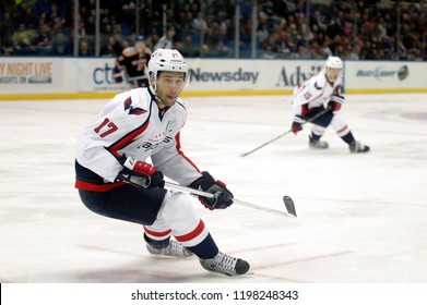 UNIONDALE, NEW YORK, UNITED STATES – March 9, 2013: NHL Hockey: Wojtek Wolski, of the Washington Capitals, during a game between the Capitals and New York Islandersat Nassau Coliseum.