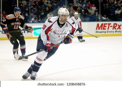UNIONDALE, NEW YORK, UNITED STATES – March 9, 2013: NHL Hockey: Troy Brouwer, of the Washington Capitals, during a game between the Capitals and New York Islanders at Nassau Coliseum.