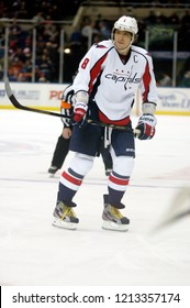 UNIONDALE, NEW YORK, UNITED STATES – March 9, 2013: NHL Hockey: Alex Ovechkin, of the Washington Capitals, during a game between the Capitals and New York Islanders at Nassau Coliseum.