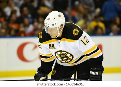 UNIONDALE, NEW YORK, UNITED STATES – Nov. 2, 2013: NHL Hockey: Boston Bruins forward Jarome Iginla during a game against the New York Islanders at Nassau Coliseum.