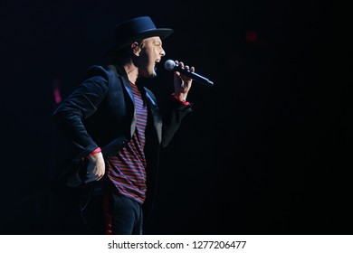 UNIONDALE, NY - DEC 31: Gavin DeGraw performs in concert at NYCB Live, home of the Nassau Veterans Memorial Coliseum on December 31, 2018 in Uniondale, New York.
