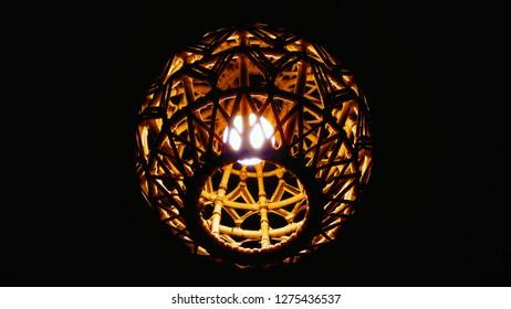 uniq bamboo lampion