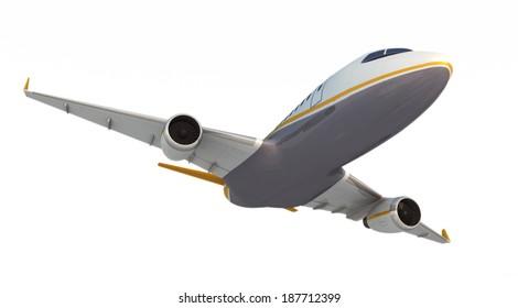Unique airplane, photorealistic render