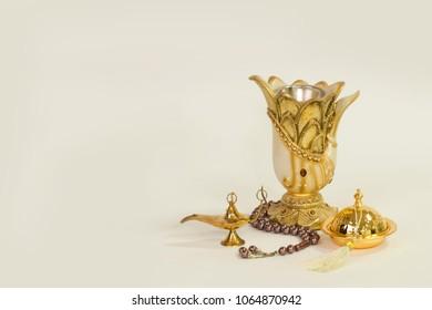 Unique antique thurible with vase