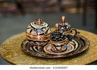 a unique arabic coffee objects