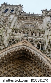 Unique architecture of the Notre-Dame Cathedral of Amiens, France