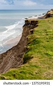 Unique cliff landscape near Loenstrup, Western Denmark