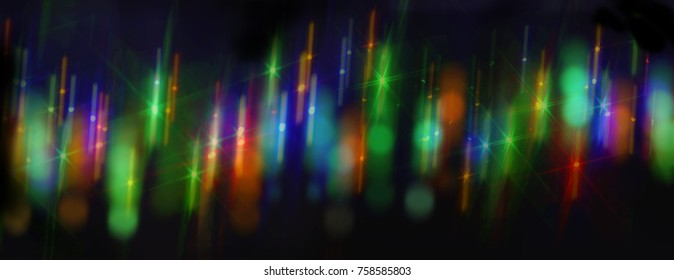Unique, unique colored background created from blurry street flares swirled at night