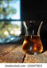 Unique Irish Whiskey Glass with Sunny Irish Window Behind