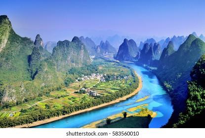 Unique karst landform, guilin in China