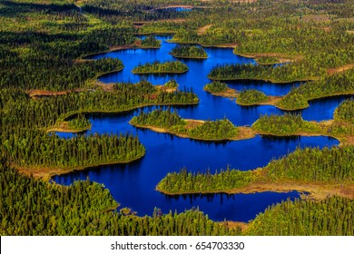 Unique lake in Sweden from above