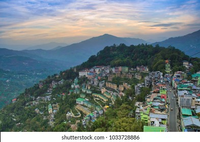 A unique landscape photo of Darjeeling Hills in West Bengal, India