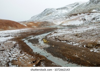 The unique landscape of the Seltun hot spring on the Southern Peninsula in Iceland