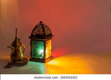 Unique Lantern with Arabic coffee