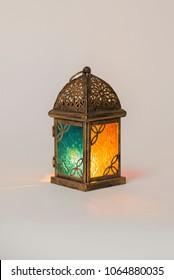 Unique lantern with orange and blue color