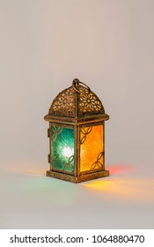 Unique lantern with orange and green colors