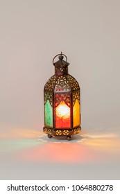 Unique lantern with red green orange color