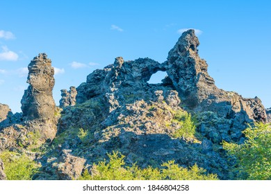 einzigartiges Lavafeld Dimmuborgi auf Island