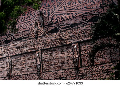 Unique Paint Texture of Traditional Minang House Wall